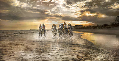 Topsail Photograph - Racing Down The Stretch by Betsy Knapp