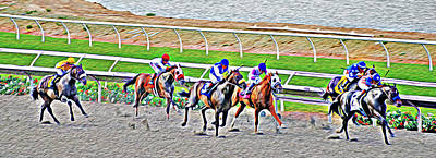 Jockeys Photograph - Racing Horses by Christine Till