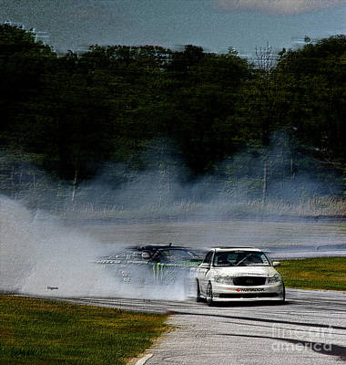 Race Cars Photograph - Racing It Down by Steven Digman