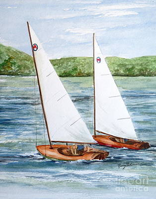 Painting - Racing  by Nancy Patterson
