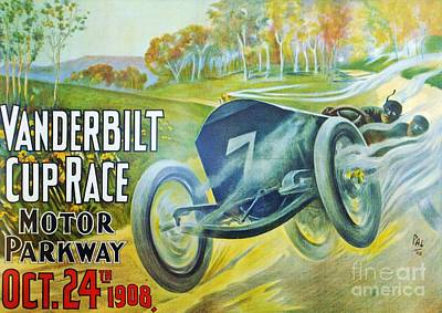 Painting - Racing Poster 1908 by Roberto Prusso