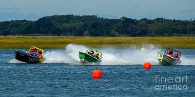 Photograph - Racing Skiffs by Nick Zelinsky