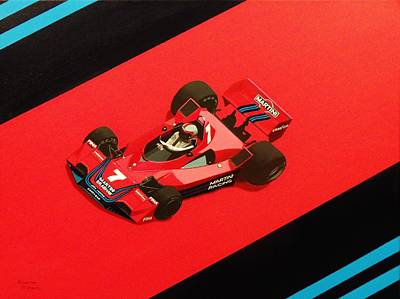 Martini Painting Royalty Free Images - Racing stripes Royalty-Free Image by Kieran Roberts