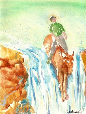Painting - Racing The Falls by Rick Carbonell