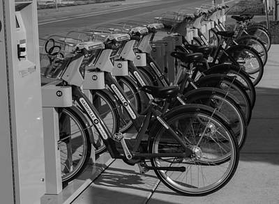 Photograph - Rack Of Bicycles Nashville by Robert Hebert