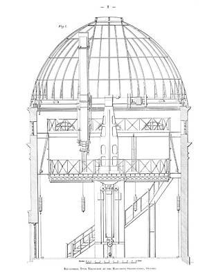 Telescope Dome Photograph - Radcliffe Observatory Telescope by Royal Astronomical Society