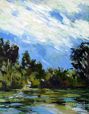 Waterscape Painting - Raders Heaven by Charlie Spear