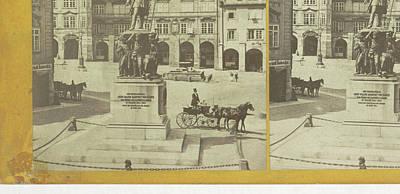 Czech Drawing - Radetzky Monument Czech Republic, Frantisek Fridrich by Artokoloro