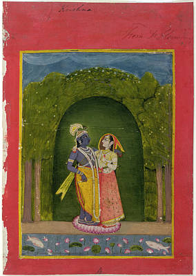Radha And Krishna Art Print