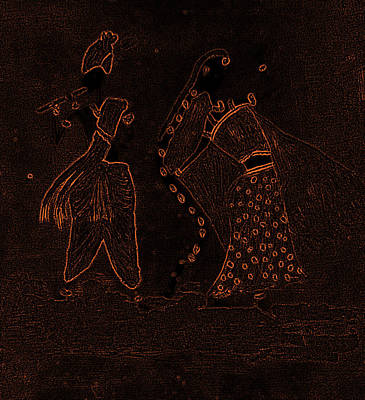 Radha Krishna Dancing Art Print