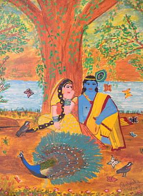 Painting - Radha-krishna by Pratyasha Nithin