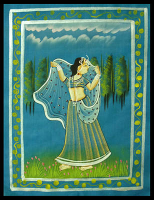 Krishnan Painting - Radha's Passion by Sivaanan Balachandran
