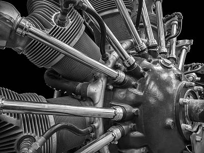 Radial Aircraft Engine Art Print by Gary Warnimont