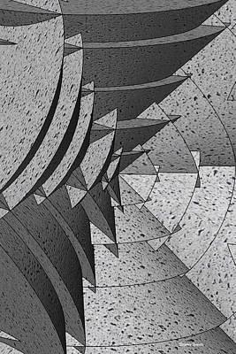 Radial Edges - Concrete Art Print