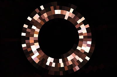 Photograph - Radial Mosaic In Brown by Todd Soderstrom