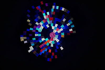 Radial Mosaic In Red White And Blue Art Print
