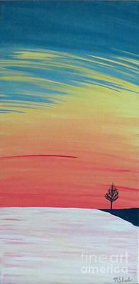 Radiance On Ice Art Print by Melissa F Kaelin