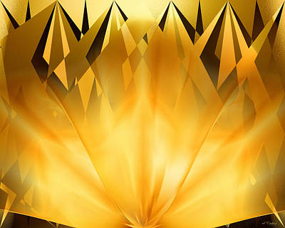 Digital Art - Radiant Gold by rd Erickson