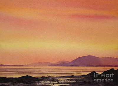 Radiant Island Sunset Print by James Williamson