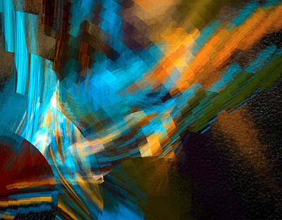 Blue Digital Art - Radiant One by Betsy Jones