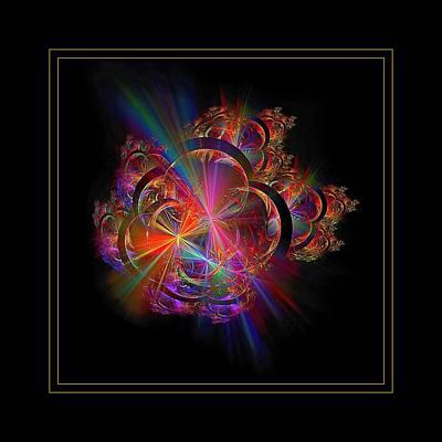 Digital Art - Radiant Rings Framed  by Doug Morgan