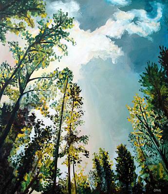 Painting - Radiant Sky by Cedar Lee