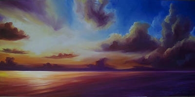 Www.landscape.com Painting - Radiant Skyburst by James Christopher Hill