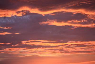 Art Print featuring the photograph Radiant Sunset 3 by Karen Nicholson