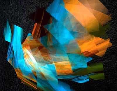 Blue Digital Art - Radiant Three by Betsy Jones