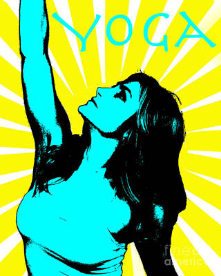 Radiant Yoga Art Print by Timothy OLeary