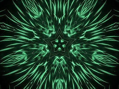 Photograph - Radiating Green by Steven Parker