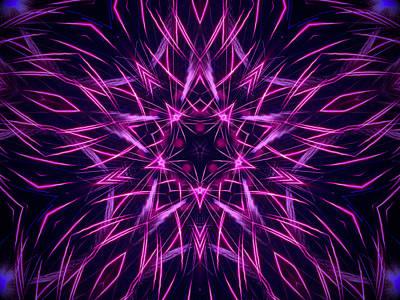 Photograph - Radiating Purple by Steven Parker