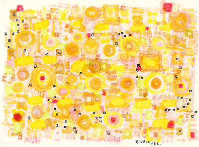 Drawing - Radiating by Regina Valluzzi