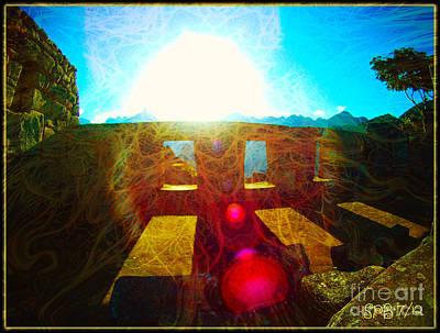 Ruins Mixed Media - Radiation At Machu Picchu by Shawn  Bowen