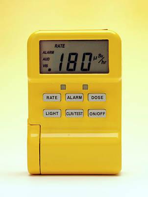 Electronics Photograph - Radiation Dosimeter by Public Health England