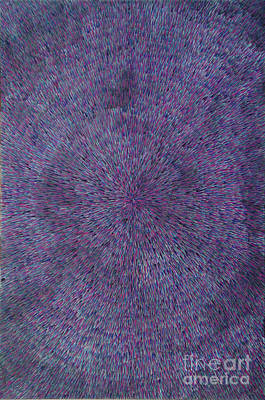 Wall Art - Painting - Radiation Violet  by Dean Triolo