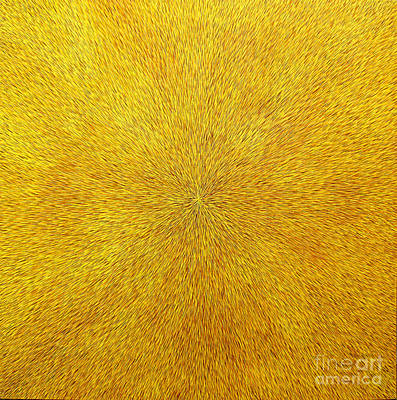 Expensive Art Painting - Radiation With Gold  Red And Brown  by Dean Triolo