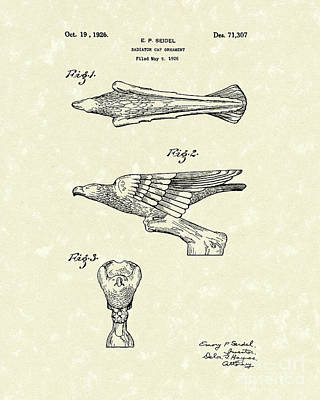 Drawing - Radiator Ornament 1926 Patent Art by Prior Art Design
