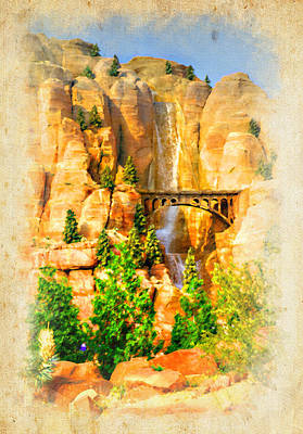 Photograph - Radiator Springs Waterfall by Ricky Barnard