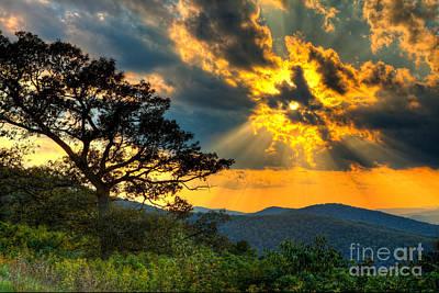 Photograph - Radical Blue Ridge Sunset  I by Dan Carmichael