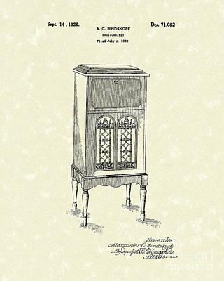 Radio Cabinet 1926 Patent Art Art Print by Prior Art Design