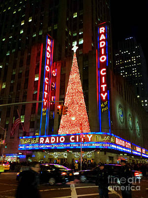 Photograph - Radio City At Christmas Time - Holiday And Christmas Card by Miriam Danar