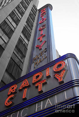 Radio City Print by Dan Holm