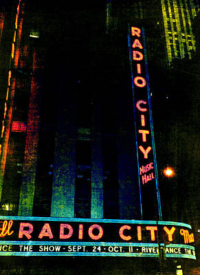 Photograph - Radio City Grunge by Joann Vitali