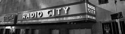 Abstract Male Faces - Radio City In Black And White by Dan Sproul