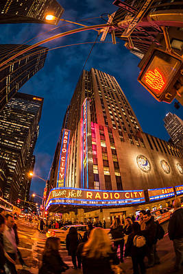 Print featuring the photograph Radio City by James Howe