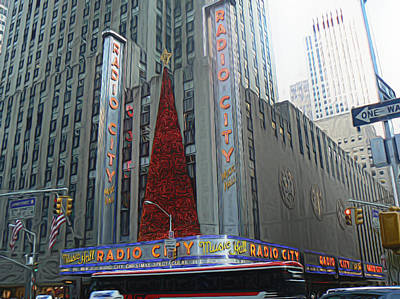 Photograph - Radio City by Michael Porchik