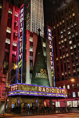 Photograph - Radio City Music Hall Anniversary  by Lee Dos Santos