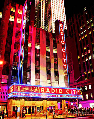 Photograph - Radio City Music Hall Aretha Franklin by Larry Oskin