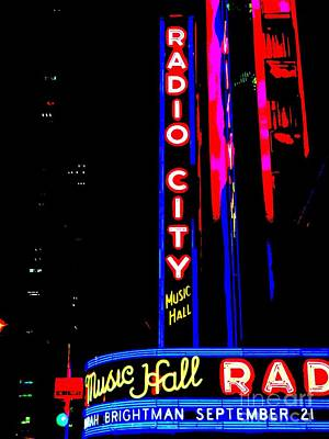 Radio City Music Hall Art Print by Ed Weidman
